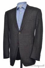 CANALI Recent Gray GINGAM CHECK CASHMERE Mens Blazer Sport Coat Jacket - 40 R