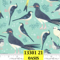 MODA Desert Song 100% cotton fabric by the yard Looks like roadrunners 13301 21
