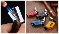 Double Nozzle Torch Lighter Cigar Cigarette Refillable Windproof Jet Lighters