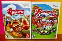 Kids Backyard Football '10 + Rookie Rush - Nintendo Wii & Wii U Game Lot