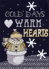 Cross Stitch Kit ~ Janlynn Warm Hearts Holiday Snowman #025-0104