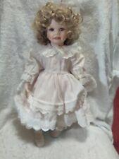 "Hamilton Coll Christina Porcelain Doll 17"" Tall N0. 1211B"