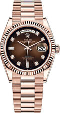 Rolex President Day Date 128235 36mm 18K Rose Gold Brown Ombre Diamond DIAL ONLY