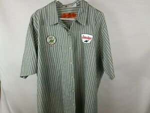 3XL Used Sinclair Work Shirt with Large Backpatch Retro Gas Oil (148)