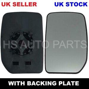 FOR FORD TRANSIT MK6 MK7 00-2014 LEFT PASSENGER NEARSIDE DOOR WING MIRROR GLASS