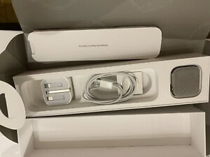 Apple Watch Series 5 44mm Titanium Case with Grey Sport Band & Black Leather S/M