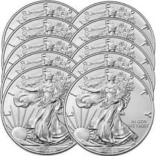 Lot of (10) 2020 1 oz American Silver Eagle Bullion Coins Gem Uncirculated