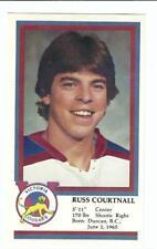 RUSS COURTNALL 1982-83 Victoria Cougars Police SGA Pre Rookie Card RC Maple Leaf