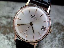 Hermoso Tamaño Completo sólido 18ct Oro Rosa Reloj Automático Vintage Década de 1960 Zenith