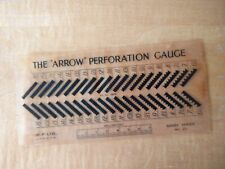 More details for vintage 'arrow' perforation gauge stamp collecting philately good condition