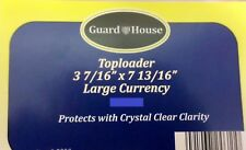 (10) GUARD HOUSE Top loader Large Currency Sleeves 12mm