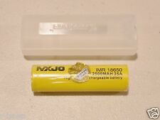 1 MXJO IMR 18650 Li-MN BATTERY HIGH DRAIN RECHARGEABLE 3.7v 2500mAh 35A w/case