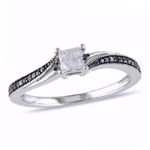 0.20 Ct Natural Diamond Vintage Style Engagement Band Ring 9K White Gold -IGI-