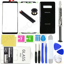 Samsung Galaxy Note 8 N950 -oem Black- Front Screen Glass Back Replacement Kit