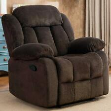 """Fabric Manual Recliner 23"""" Wide Padded Seat Living Room Overstuffed Single Sofa"""