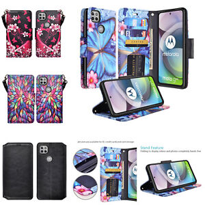 Motorola Moto One 5G Ace Leather Magnetic Flip Kickstand Wallet Case Cover