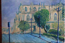 Terry George painting of Seville Cathedral Spain