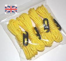 GIALLO brillante fluorescente Guy Linea corde x4 Pack Paracord Tenda Campeggio Hi Vis