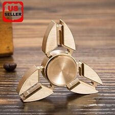 2xtri Fidget Hand Spinner Triangle Brass Finger Toy EDC Focus ADHD Autism