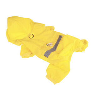 Raincoat Waterproof Pet Dog Cat Outdoor Hoodie Rain Coat Doggie Rainwear Clothes