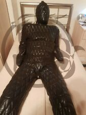Genuine Leather Catsuit Over All Jumpsuit Fully Quilted YKK Zipper With Hood