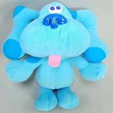 "Vtg 1997 Tyco Blues Clues SING ALONG BLUE 12"" Talking Stuffed Plush TESTED WORKS"