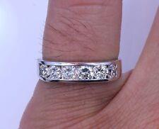 1.25 Carat Round Cut Diamond Ring Channel Set 14k White Gold