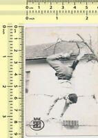 105 Man Handstand Abstract Surreal Guy Parkour Motion vintage photo old original