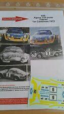 Decals 1/32 ref 655 Alpine Renault A110 Therier Criterium des Cevennes 1972
