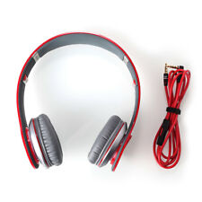 100% Genuine Beats by Dr.Dre Solo HD On Ear Wired Headphones - High Def Red