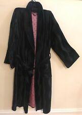 PETER ALEXANDER Black Luxe Velvet Dressing Gown Robe-Size L/14