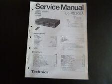 Original Service Manual Technics Compact Disc Player SL-PG200A