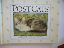 New listing Post Cats = Postcats = Lesley Ane Ivory's cat paintings - gorgeous/hardcover 1st