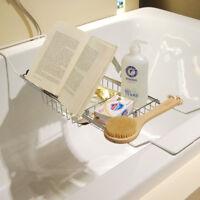 Metal Bath Caddy Bathtub Reading Stand Rack Adjustable Wine Book Holder Tray US