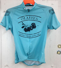 Cycling Jersey - Sugoi with Olavita Olive Oil Graphics - Womens Large Aqua Blue