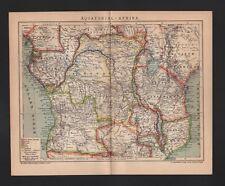 Landkarte map 1905: AFRIKA. Äquatorial-Afrika. Africa
