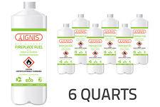 IGNIS Bio Ethanol Fuel 6 Pack Ethanol fireplace fuel 1 Quart each BIO FUEL