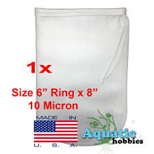"1x Filter Bag 6"" x 8"" 10 Micron Felt Polypropylene Made in USA"