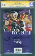 Heroes for Hire 1 CGC 9.8 2XSS Sparacio Tucci Black Cat Original art Sketch