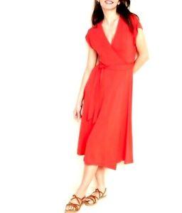 Old Navy Womens Dress Size Medium Red Stretchy Jersey Knit Dolman Sleeve Wrap