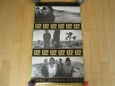 Joshua Tree! 1987 vtg U2 band promo Poster Concert art Music Nos bono the edge