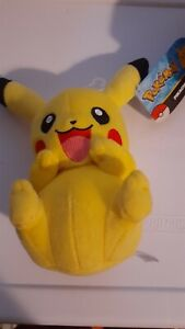Tomy Pokemon Pikachu  8-Inch Plush Smiling-Yellow