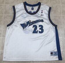 Vintage Michael Jordan #23 Washington Wizards Champion Jersey 44 White EUC