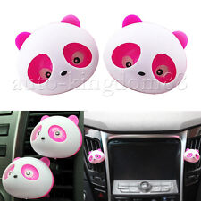 2x Original Panda Cute Car Perfume Air Freshener Auto Decora Accessory Pink NEW