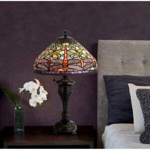 "Cal Lighting Tiffany 28.5"" Height Metal Table Lamp, Antique Bronze - BO-2355TB"