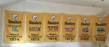 PIttsburgh Steelers NFL Super Bowl Champions 6 Banners/Flags Set 3'x5'