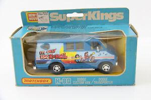 VINTAGE MATCHBOX K-80 DODGE CUSTOM VAN ROCK N ROLL 1979 SUPER KINGS DIE CAST BOX