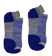 SmartWool Men's PhD Run Ultra Light Micro Blue Socks 10605 Size Large