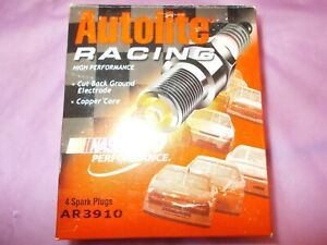 AUTOLITE #AR3910 BOX OF FOUR NEW OLD STOCK RACING SPARK PLUGS!!