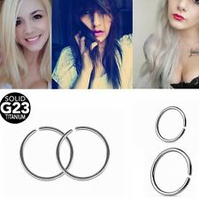 Titanium Nose Hoop Nose Septum Ring Lip Ring Eyebrow Punk Piercings 20G 18G
